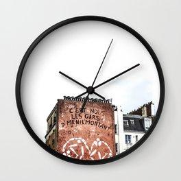C'est Nous Les Gars D'menilmontant Wall Clock