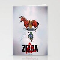 akira Stationery Cards featuring Zelda/Akira by Henrique Jardim
