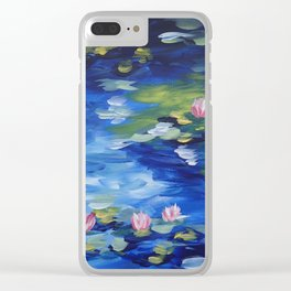 Rendition of Water Lilies Clear iPhone Case