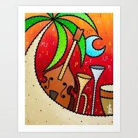 Tropical Jazz Art Print