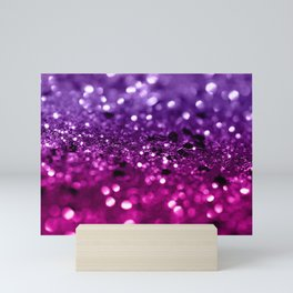 Pink Purple Lady Glitter #1 #shiny #decor #art #society6 Mini Art Print