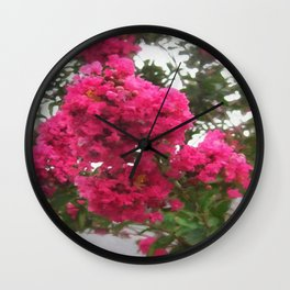 Crape Myrtle Wall Clock