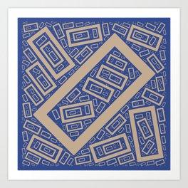 Rectangle Pattern Art Print