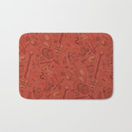 Inventory in Red Bath Mat