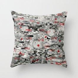 The Flaw Advantage (P/D3 Glitch Collage Studies) Throw Pillow
