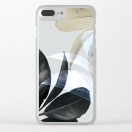 Moody Leaves II Clear iPhone Case