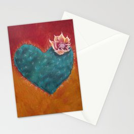 Cactus Heart Stationery Cards