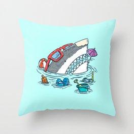 Beach Party Shark Throw Pillow