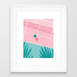 Jock - tennis sport retro neon throwback palm springs los angeles hollywood california sunny pop art Framed Art Print