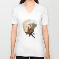ghost in the shell V-neck T-shirts featuring Ghost in the Shell by Alex Tim