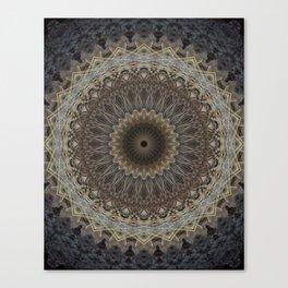 Mandala in warm brown and gray tones Canvas Print
