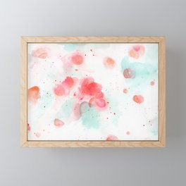 Abstract water lillies Framed Mini Art Print