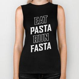 Eat Pasta Run Fasta Biker Tank