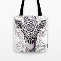 giraffe Tote Bags featuring Giraffe by BIOWORKZ