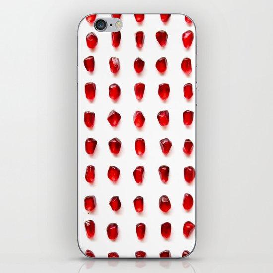 pomegranate seeds, organized neatly iPhone & iPod Skin