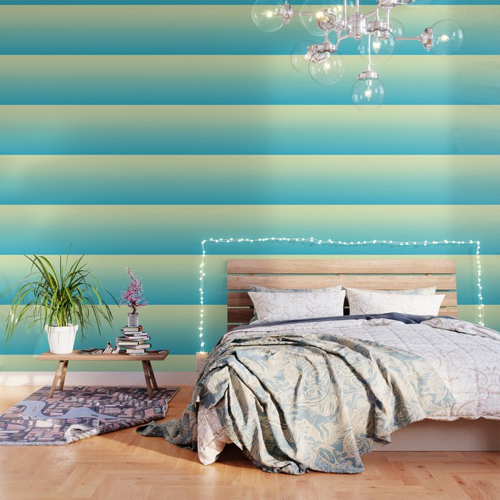Sunny Disco Ball Ombre Wallpaper