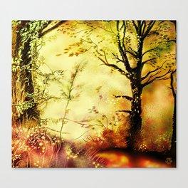 Woodland scene [Coloured lights version] Canvas Print