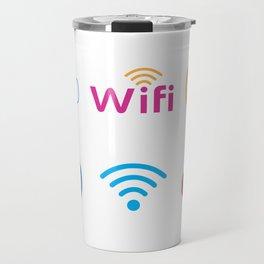 Wifi Logo Travel Mug