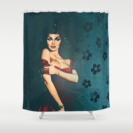 Flower In A Smoky Room Shower Curtain