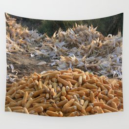 Sweet Corn and Husks Wall Tapestry