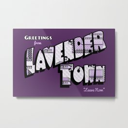 Greetings from Lavender Town Metal Print