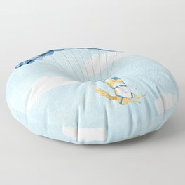 Cutie Parachuting Dog Floor Pillow