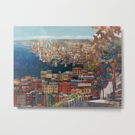 Boston seaport view from the hill Metal Print