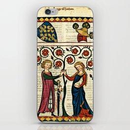 Codex Manesse: Bernger von Horheim iPhone Skin