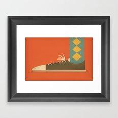 Argyle Sock Framed Art Print