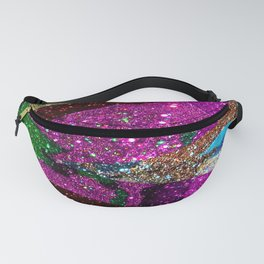 Peacock Mermaid Lavender Abstract Geometric Fanny Pack