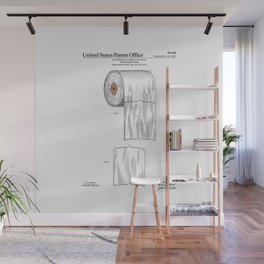 Toilet Paper Roll Patent Wall Mural