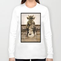 medieval Long Sleeve T-shirts featuring Medieval Nightmare by Irina Chuckowree