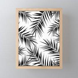 Palm Leaves Cali Finesse #3 #BlackWhite #tropical #decor #art #society6 Framed Mini Art Print