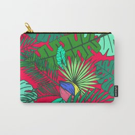 TROPICAL GARDEN (abstract collage) Carry-All Pouch