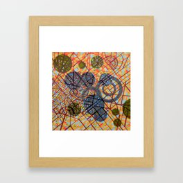 bombing Milan Framed Art Print