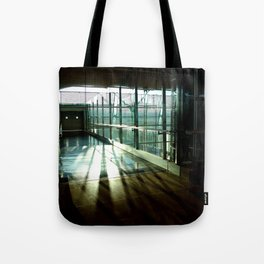 Boarding shadows Tote Bag