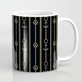 Gold chains on black. Coffee Mug