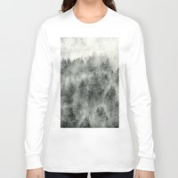 wolf Long Sleeve T-shirts featuring Everyday by Tordis Kayma