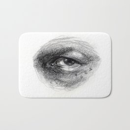 Eye Study Sketch 4 Bath Mat