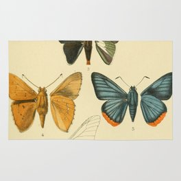 Vintage Moth Illustrations Rug