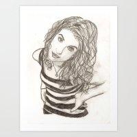 hayley williams Art Prints featuring Hayley Williams by Dead Rabbit