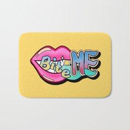 Bite Me - yellow Bath Mat