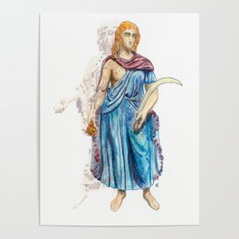 Personifications of Thrace and Egypt Poster