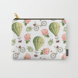 Bicycles Roses and Balloons Carry-All Pouch