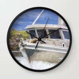 Fisherman's Prayer - West Coast Art Wall Clock