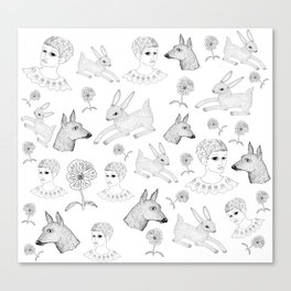 Alice in a Flurry Canvas Print