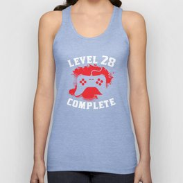 Level 28 Complete 28th Birthday Unisex Tank Top