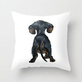Little Dachshund Throw Pillow