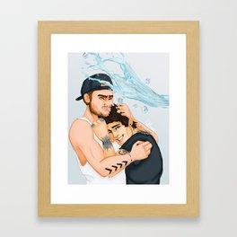 Ice Bucket Challenge Ziam Framed Art Print