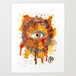 Eyes Series BROWN Art Print
